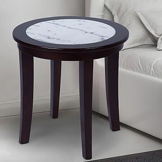 이태리 천연대리석 사이드 원형 테이블 블랙