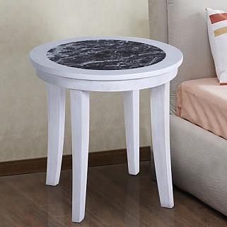 이태리 천연대리석 사이드 원형 테이블 화이트