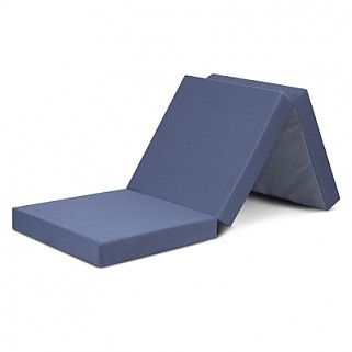 4 inch Tri-Folding Memory Foam Mattress (Grey)