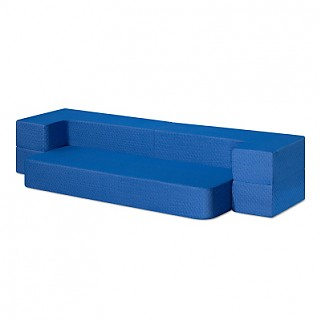 8 inch 3-in-1 Gel Memory Foam Mattress & Sofa Bed (Blue)