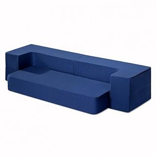 8 inch 3-in-1 Gel Memory Foam Mattress & Sofa Bed (Dark Blue)